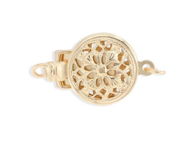 Round Filigree Bracelet Clasp