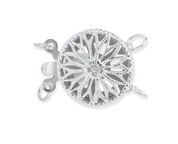 Round Filigree Clasp for Double Strand Bracelet