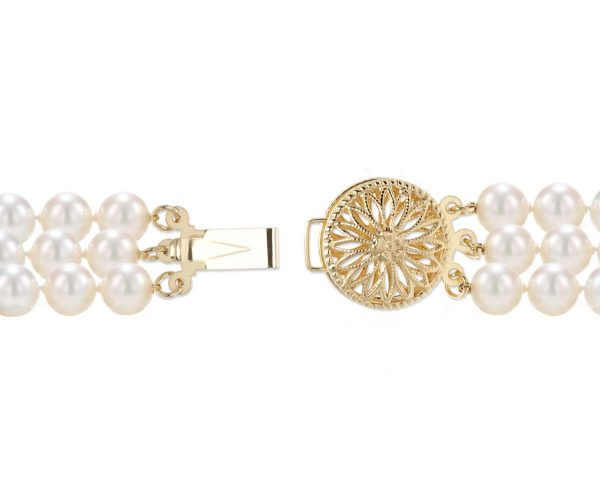 Round Filigree Clasp for Triple Strand Necklace