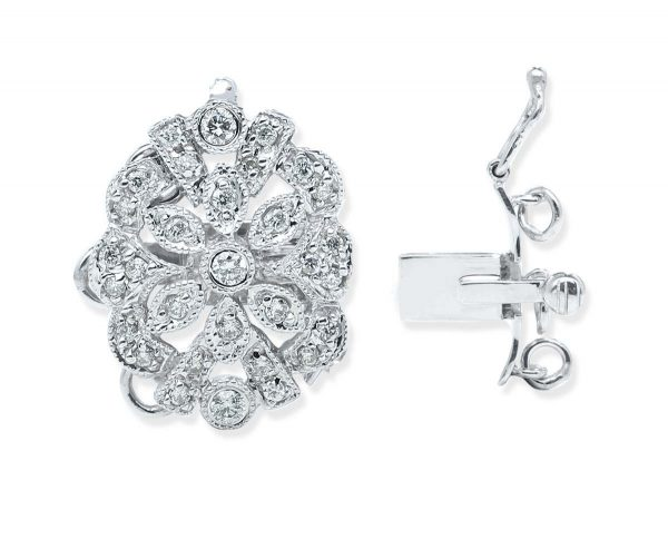 Silver Flower Clasp