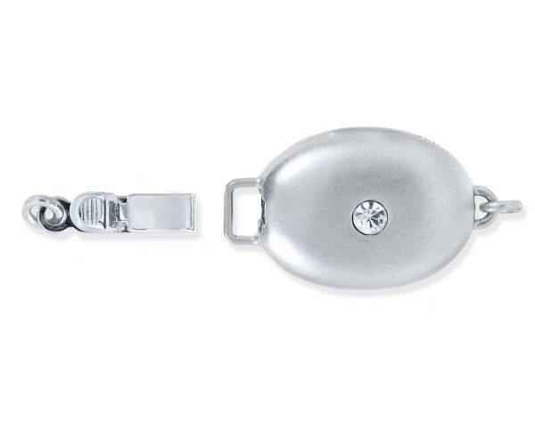 Single Stone Silver Bracelet Clasp