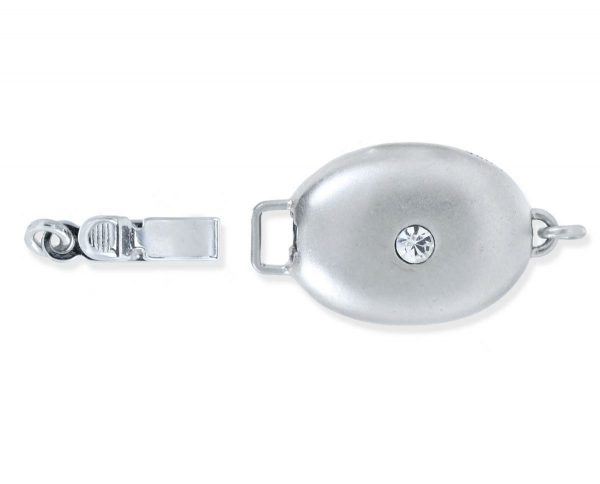 Single Stone Silver Necklace Clasp