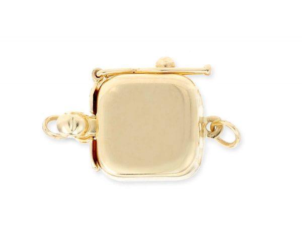Single Strand Necklace Golden Box Clasp