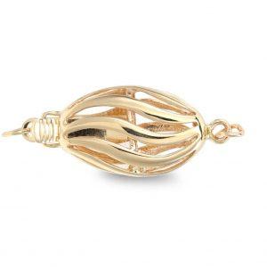 Skinny Oval Pearl Bracelet Clasp