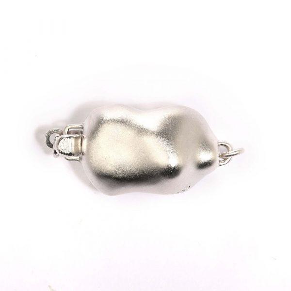 small baroque silver bracelet clasp