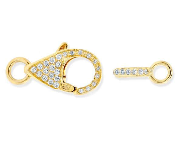 Small Diamond Lobster Clasp for Pearl Necklace