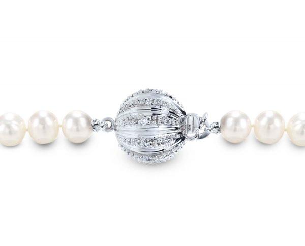 Small Lightweight Diamond Ball Bracelet Clasp