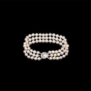 Triple Strand 7mm Pearl Bracelet