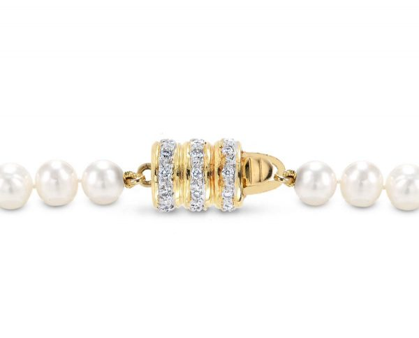 Triple Rondel Clasp for Pearl Necklace