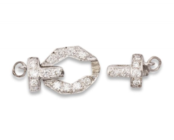 White Buckle Clasp for Pearl Bracelet