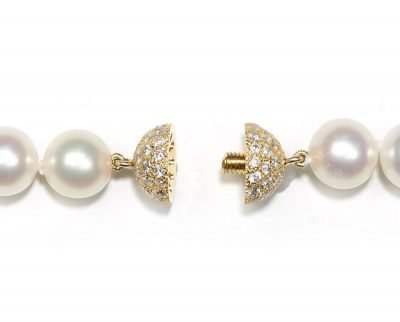 10 mm Center Screw Diamond Ball Necklace Clasp