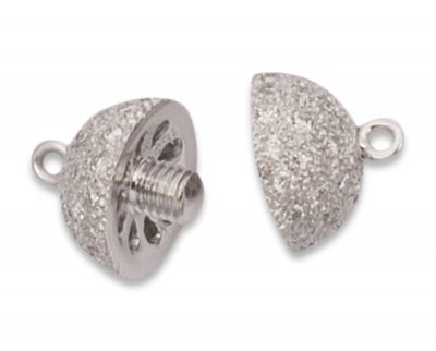 8mm Center Screw Diamond Ball Necklace Clasp