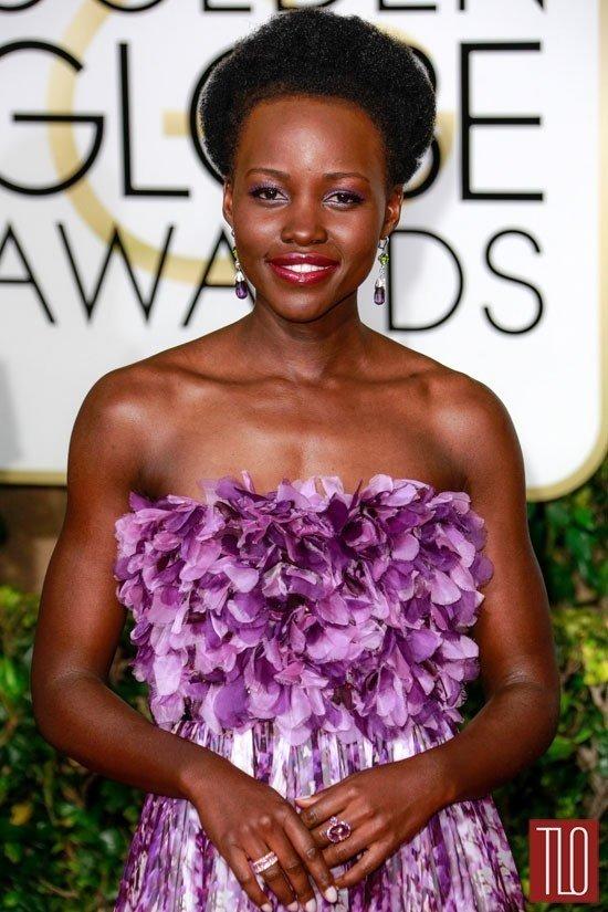 Lupita Nyongo 2015 Golden Globe Awards Red Carpet Fashion Giambattista Valli Couture Tom Lorenzo Site TLO 4